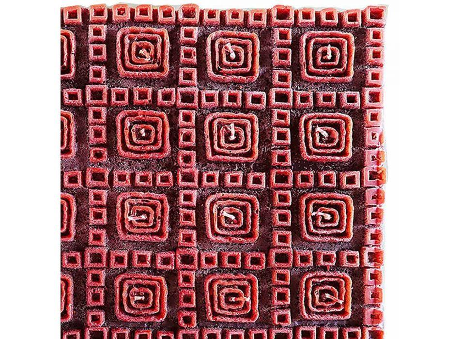 Bougie parfumée en cire brune avec 25 mèches Made in Italy - Piura