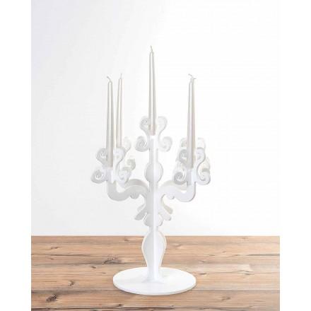 Grand chandelier design Renaissance à 5 bras en plexiglas, Aragona