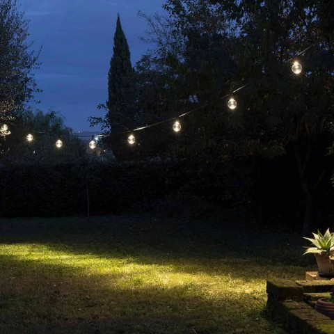 Câble extérieur en néoprène avec 8 ampoules LED incluses Fabriqué en Italie - Fête