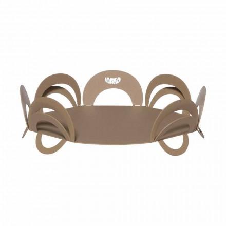 Grand centre de table design en fer fait main, fabriqué en Italie - Futti