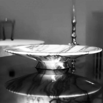 Centre de table en marbre et métal Brezza della Versilia Made in Italy - Amabile