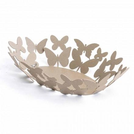 Milieu de table ovale moderne en fer précieux fabriqué à la main en Italie - Leiden