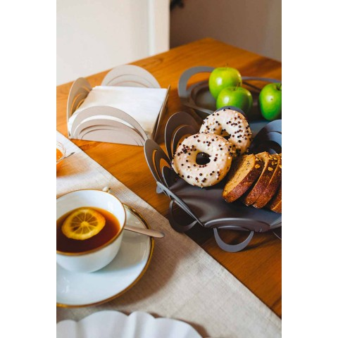 Centre de table porte-fruits fait main en fer, fabriqué en Italie - Futti