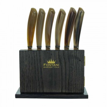 Bloc magnétique de 12 en bois d'olivier et de châtaignier Fabriqué en Italie - Bloc