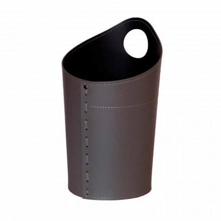 Poubelle en papier recyclé en cuir Ambrogio fait à la main
