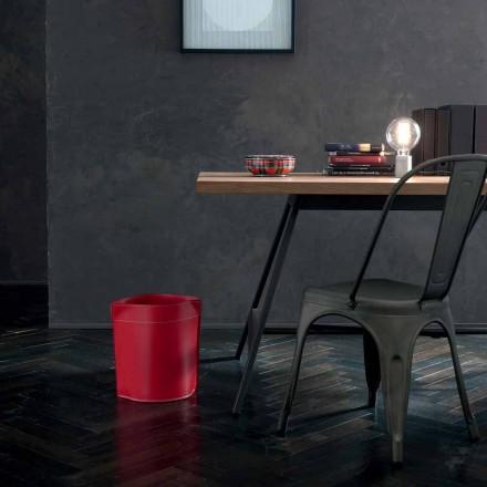 Corbeille à papier made in Italy en cuir Canistro régénéré
