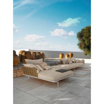Chaise longue de jardin en aluminium et tissu - Cruise Alu by Talenti