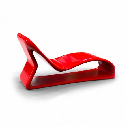 Chaise longue de design moderne fabriquée en Italie, Kobra