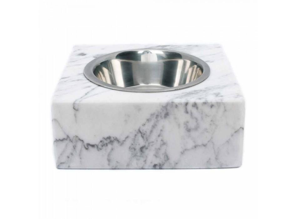 Bol pour chiens et chats en marbre blanc de Carrare fabriqué en Italie - Ciotta