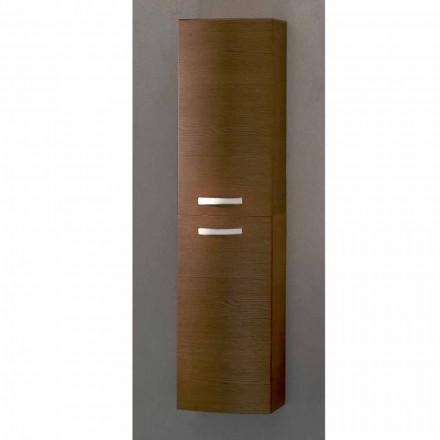 Gioia, Meuble de salle de bain suspendu 2 portes en bois de chêne, fabriqué en Italie