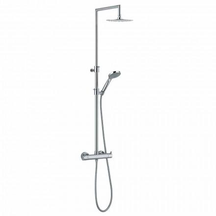 Colonne de douche avec inverseur intégré en laiton chromé Made in Italy - Griso