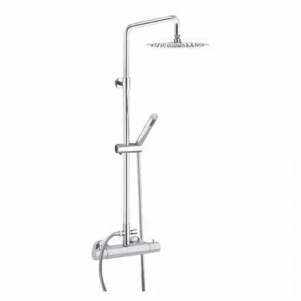 Colonne de douche avec pommeau de douche en acier ultramince Made in Italy - Studio