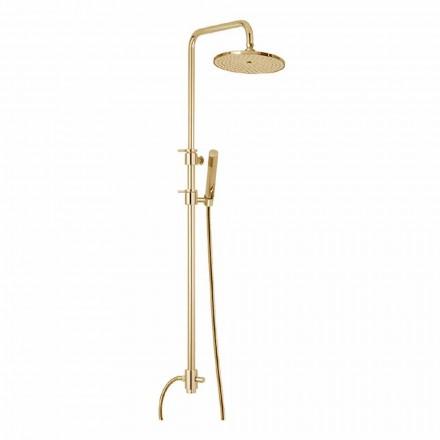 Colonne de douche en laiton avec douche en ABS et pomme de douche Made in Italy - Capot