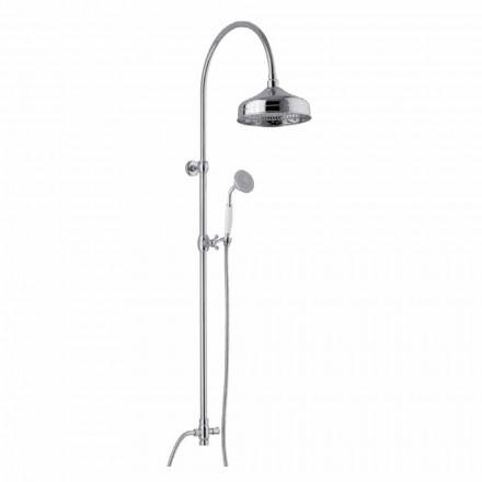 Colonne de douche en laiton avec pommeau de douche et douchette en ABS Made in Italy - Rimo