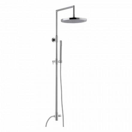 Colonne de douche en laiton chromé avec douchette en ABS fabriquée en Italie - Selvio