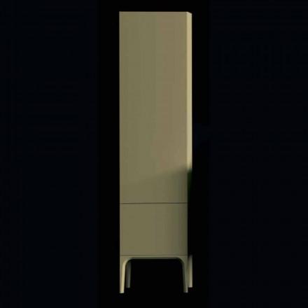 Meuble de salle de bain en bois Amanda avec 2 portes, design moderne, fabriqué en Italie