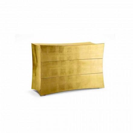 Commode à 3 tiroirs en MDF design moderne, produit en Italie, Isidoro