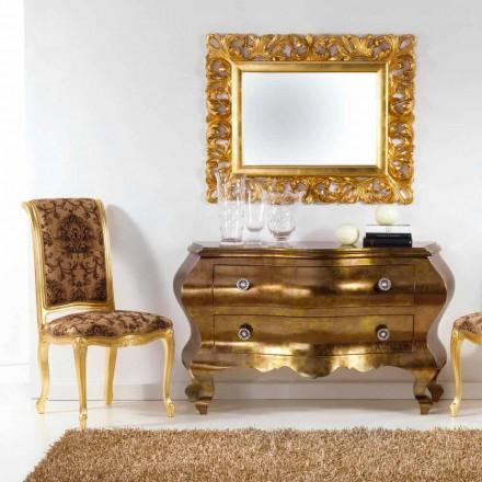 Commode tiroirs de design classique réalisée en bois massif Bellini