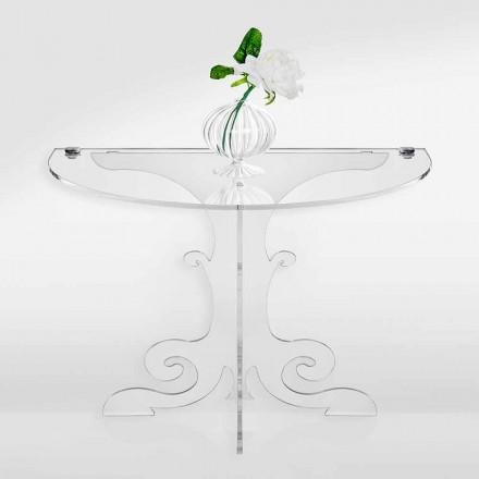 Table de chevet design classique en cristal acrylique et PMMA, Tiana