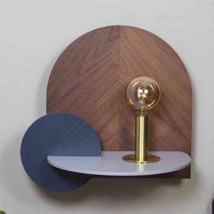Table de chevet de design moderne composée de 3 panneaux de contreplaqué modulaires - Marea