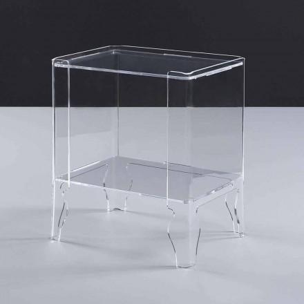 Table de nuit moderne méthacrylate transparent épaisseur 8 mm Marc