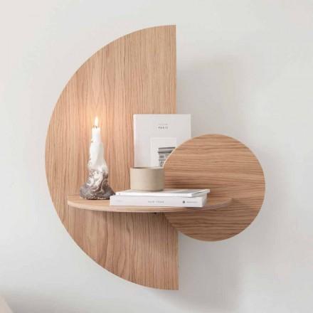 Table de chevet design composée de 3 panneaux modulaires en chêne - contreplaqué Ramia
