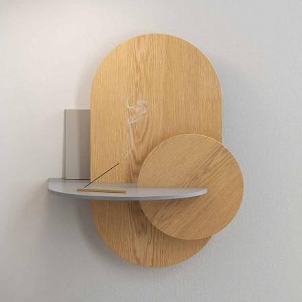Table de chevet en contreplaqué composée de 3 panneaux modulaires design moderne - Zita