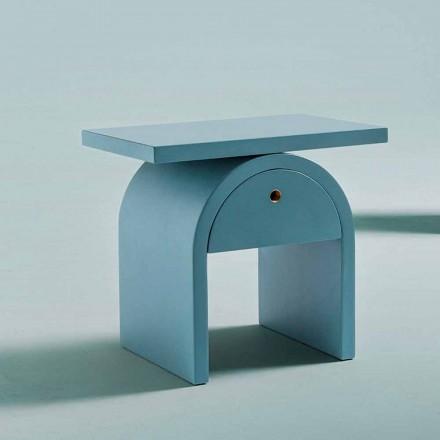 Table de chevet design moderne en bois coloré pour la chambre - Arcom