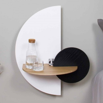 Table de chevet modulaire moderne en contreplaqué Design élégant et polyvalent - Ramia