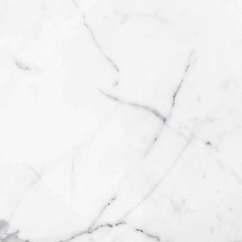Accessoires de salle de bain en marbre blanc de Carrare Made in Italy - Tuono