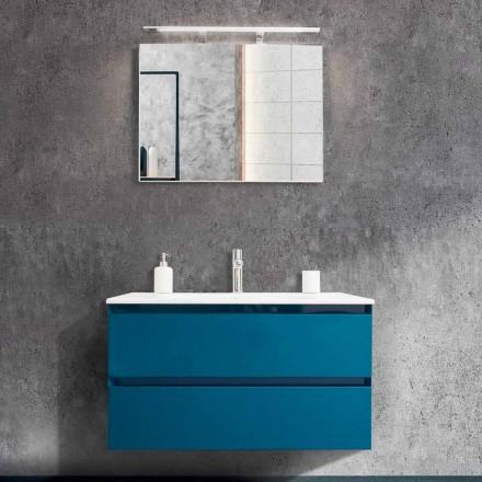 Meuble de Salle de bain 90 cm,Lavabo et Miroir Modernes -Becky