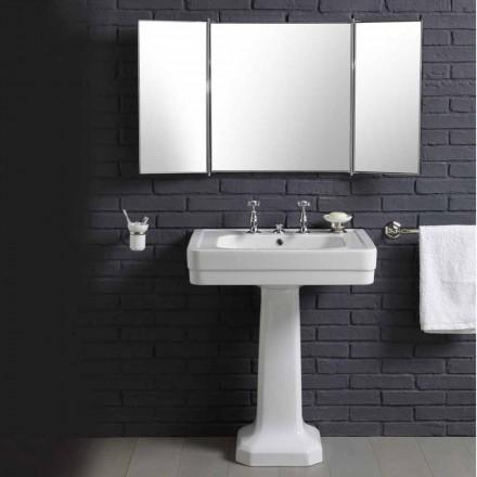 Set avec lavabo en céramique sur une colonne genre années '900 Line