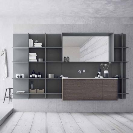 Composition de meubles de salle de bain suspendus et modernes, meubles design - Callisi12