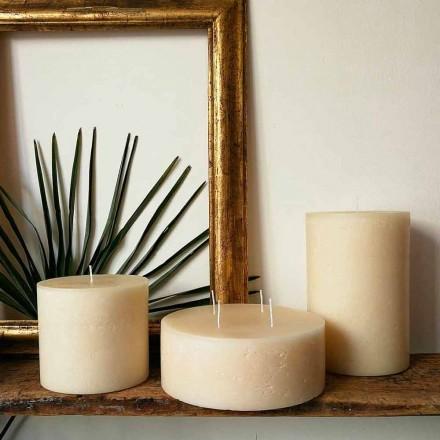 Composition de 3 bougies rondes modernes en cire fabriquées en Italie - Candie