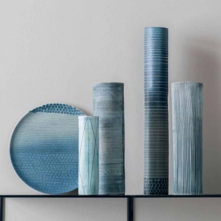 Composition de 4 Vases et Centre de Table en Porcelaine Peinte à la Main - Liberio
