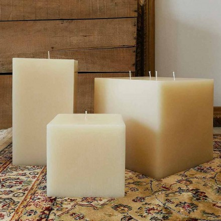 Composition de bougies carrées en cire Made in Italy, 3 pièces - Mondelle