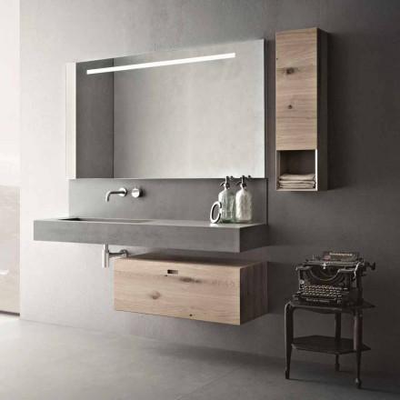 Composition de conception pour les meubles suspendus modernes de salle de bains fabriqués en Italie - Farart2