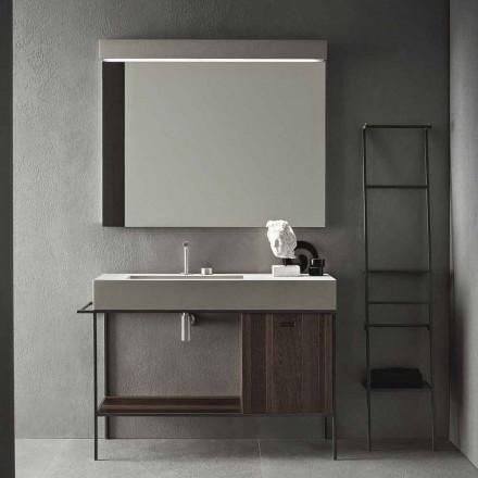 Composition de mobilier artisanal pour salle de bain design moderne au sol - Farart3