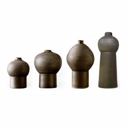 Composition de vases décoratifs en céramique, design moderne - Positano