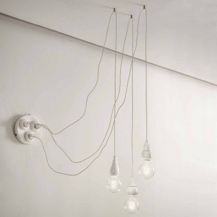 Composition Lampes Suspendues avec Multiprise Made in Italy – Fate Aldo Bernardi