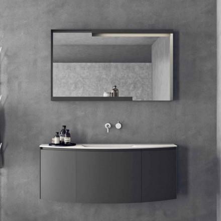 Composition de meubles de salle de bain suspendus au design moderne - Callisi3