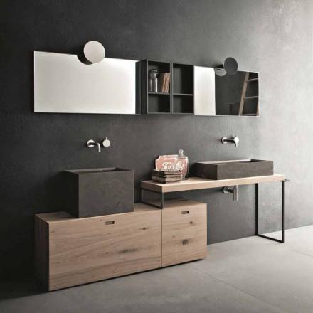 Composition de salle de bain moderne de meubles design au sol fabriqués en Italie - Farart6