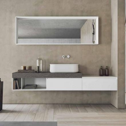 Composition moderne et suspendue de meubles de salle de bain design - Callisi2