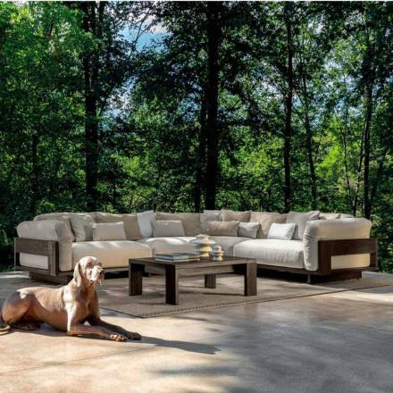 Composition pour extérieur avec canapé d'angle de luxe en bois - Argo by Talenti