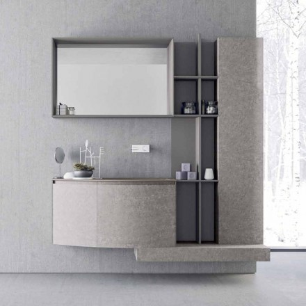 Composition de salle de bain, suspension de design italien moderne - Callisi10