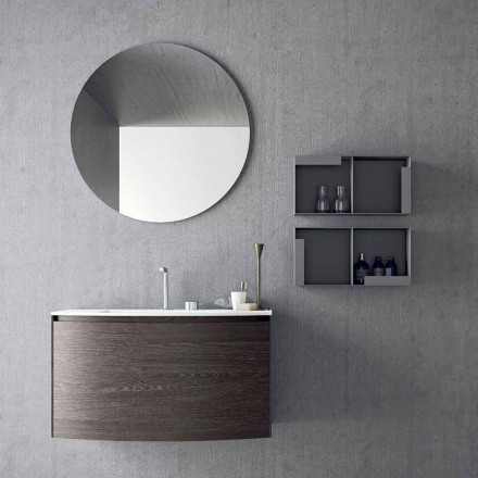 Composition pour la salle de bain suspendue de design moderne Made in Italy - Callisi11
