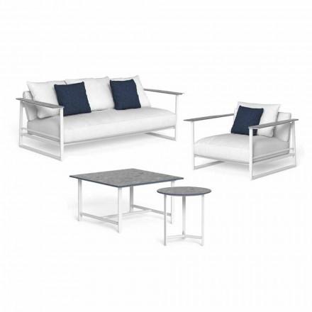 Composition de salon design en aluminium et grès - Riviera par Talenti