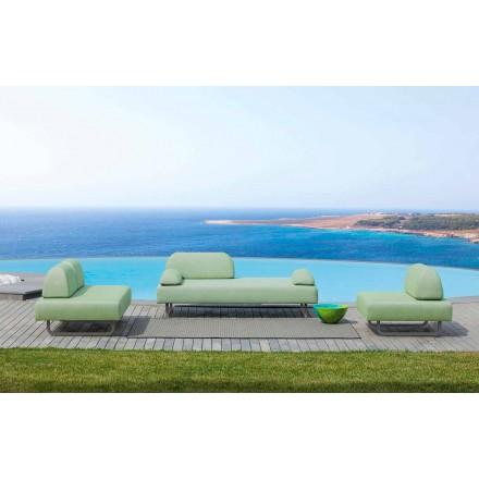 Composition de salon d'extérieur en tissu design Made in Italy - Selia