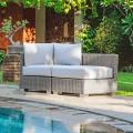 Canapé modulable de jardin Ania, de design moderne