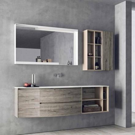 Composition de conception suspendue, meubles de salle de bains de conception moderne - Callisi5